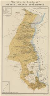 Larmat 1949 old map BORDEAUX WINE Les Vins de Bordeaux Lalande-de-Pomerol